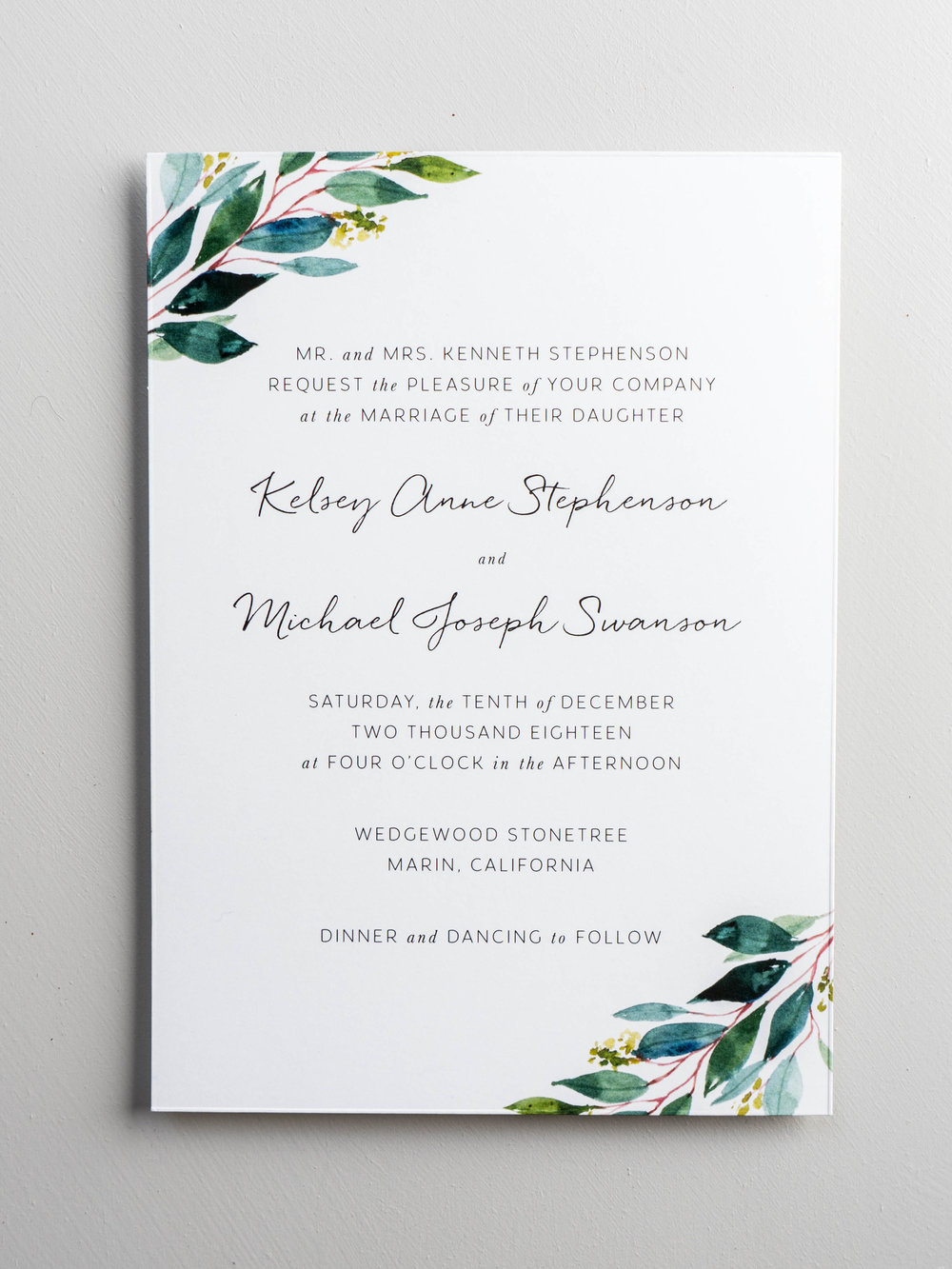 *Botanical Greenery Wedding Invitation by Just Jurf-4.jpg