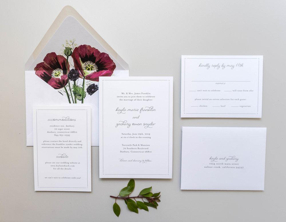 *Burgundy Poppy Wedding Invitations by Just Jurf-4.jpg