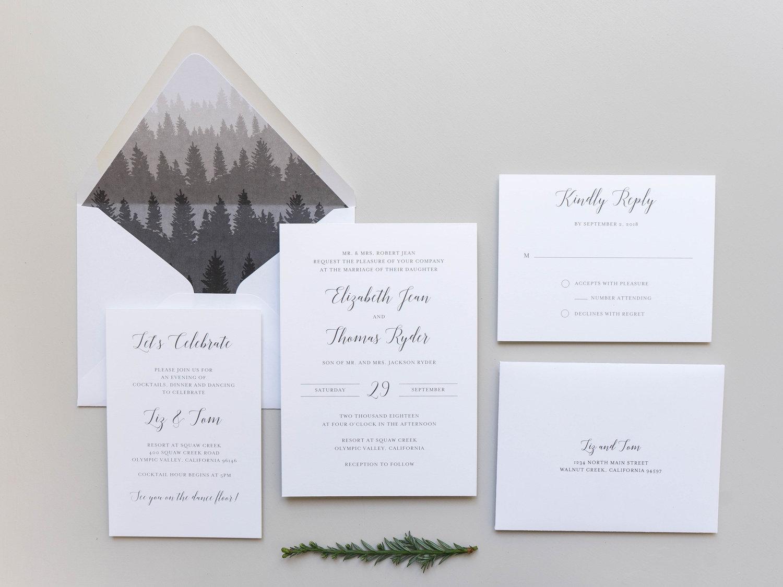 elegant mountain wedding invitation design launch just jurf designs