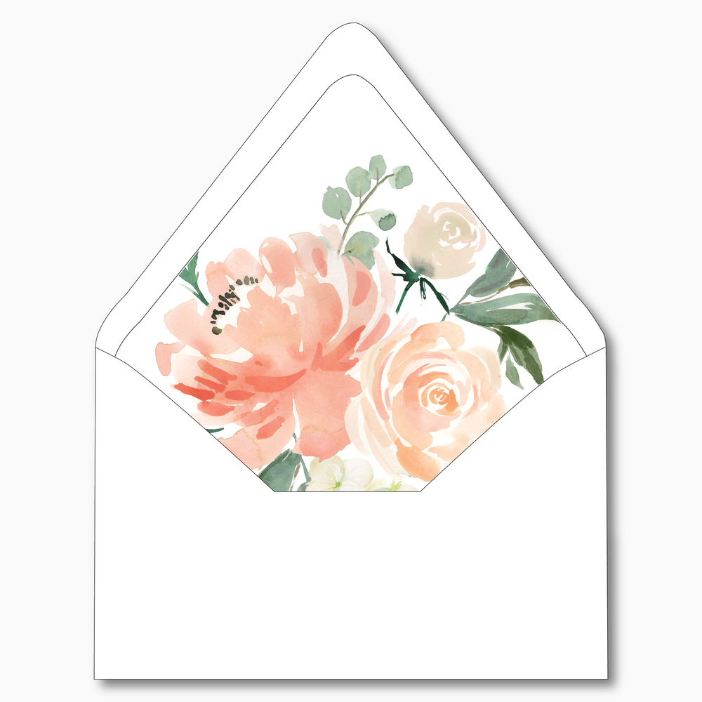 NC12 - Peach Watercolor Floral