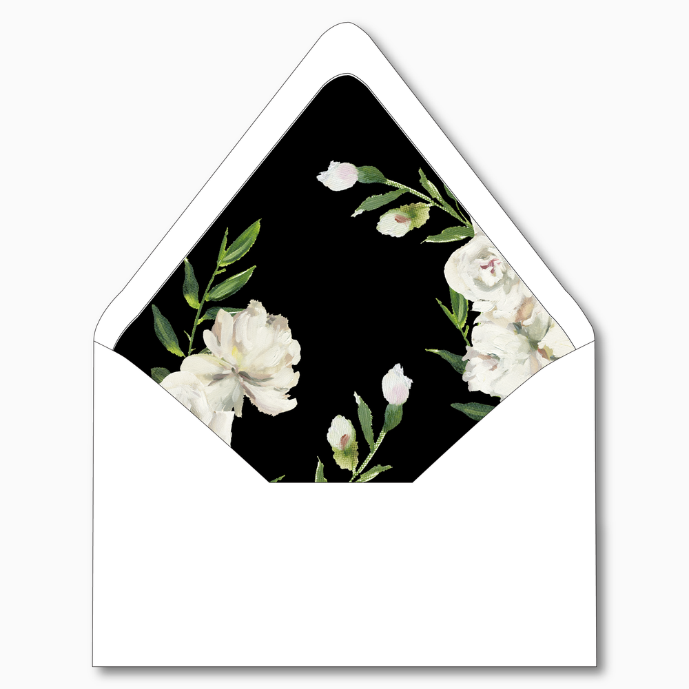 NC21 - Black and White Floral