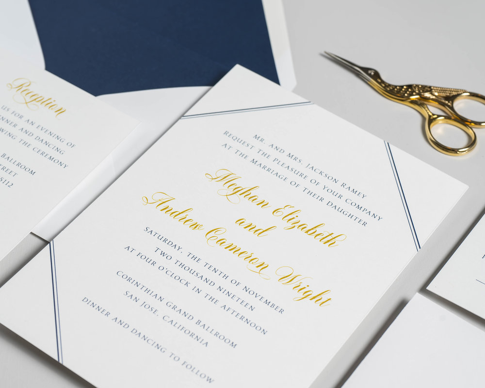 *Classic Navy & Gold Wedding Invitations by Just Jurf-8.jpg