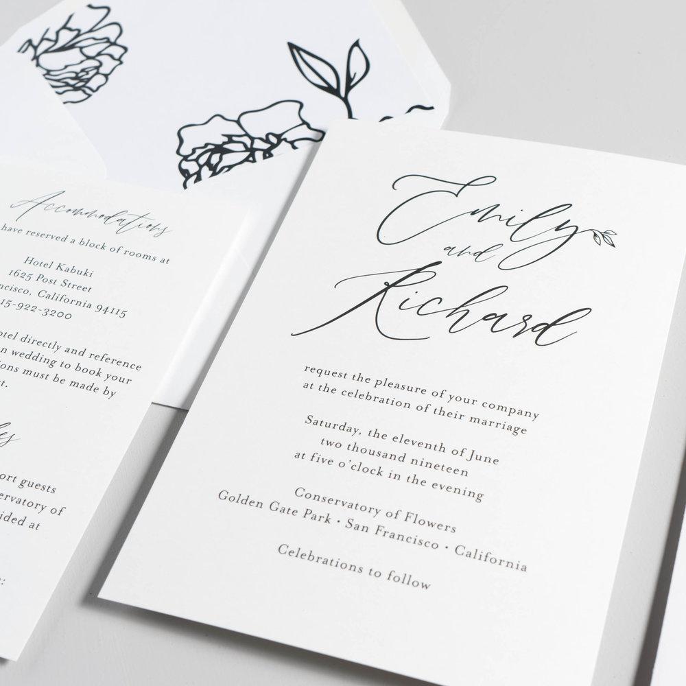 *Minimalist Leaf Wedding Invitations by Just Jurf-4.jpg