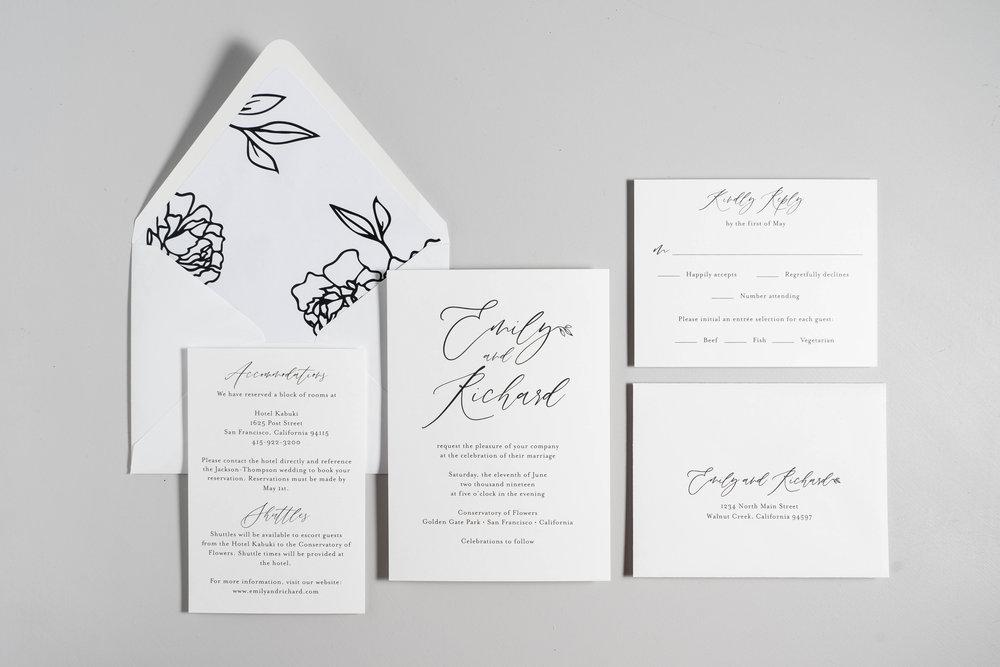 *Minimalist Leaf Wedding Invitations by Just Jurf-1.jpg