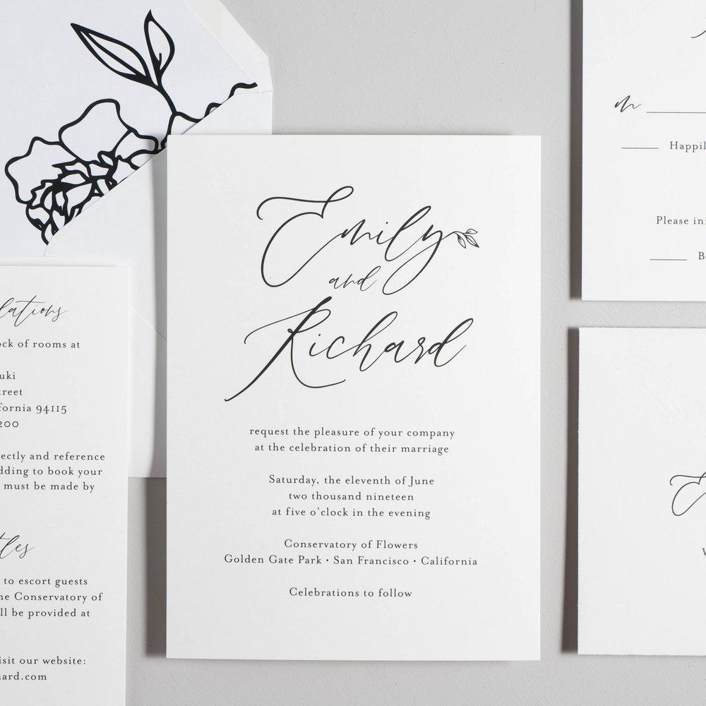 *Minimalist Leaf Wedding Invitations by Just Jurf-7.jpg