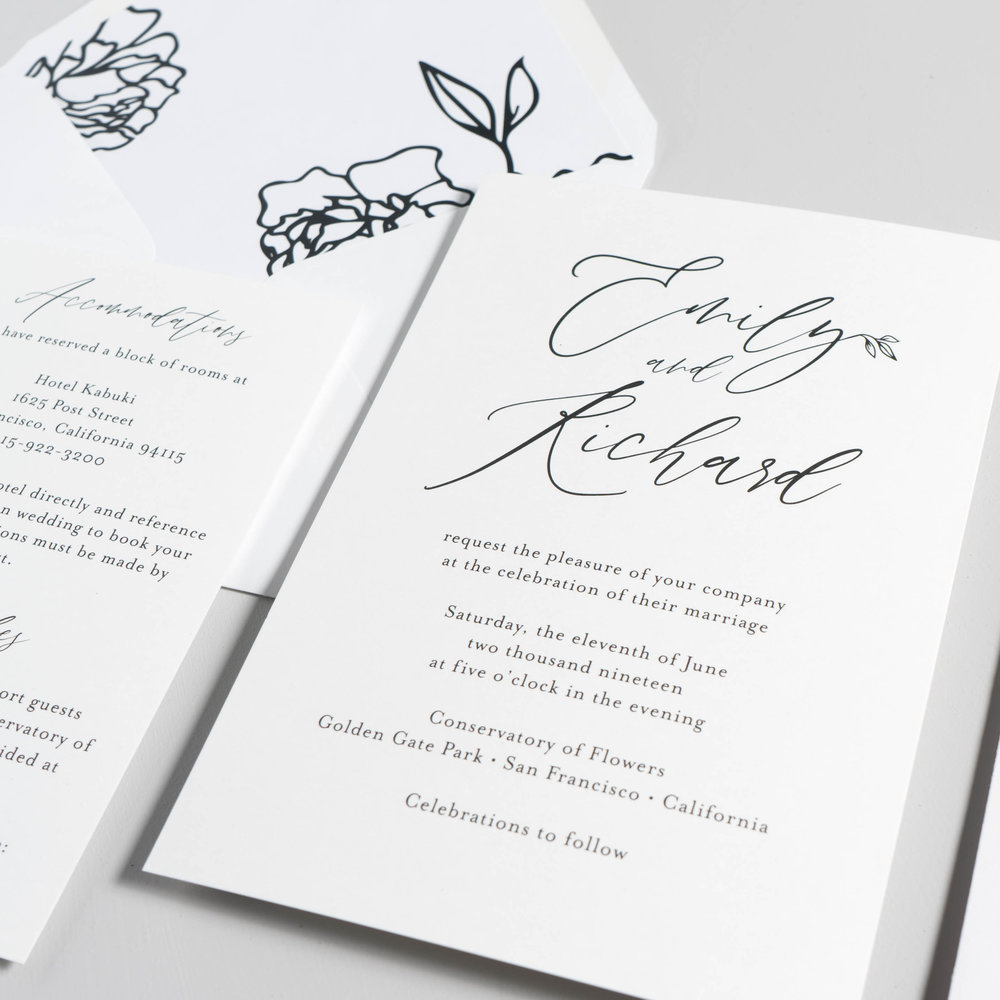 *Minimalist Leaf Wedding Invitations by Just Jurf-4.jpg