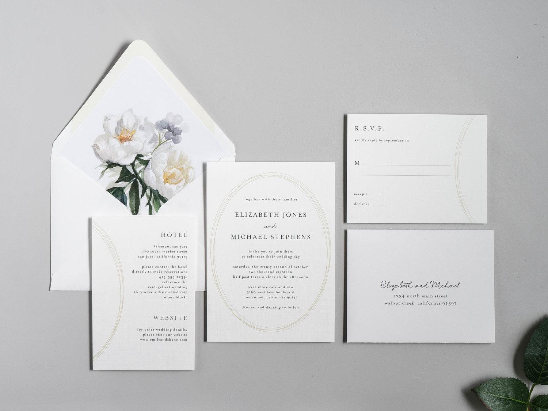 The White Floral Wedding Invitation — Just Jurf Designs