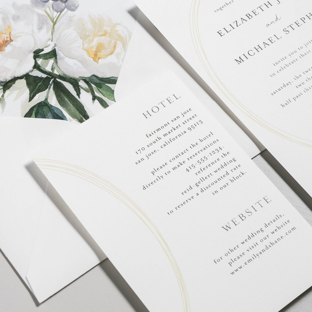 Modern Oval and White Peony Wedding Invitation by Just Jurf-4.jpg