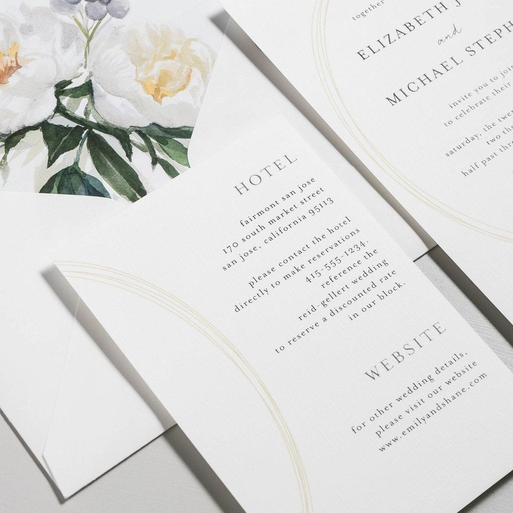 Modern Oval and White Peony Wedding Invitation by Just Jurf-4.jpg