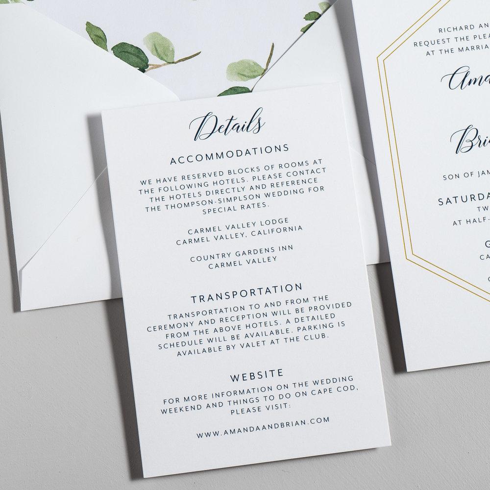 Navy, Gold, and Greenery Wedding Invitations by Just Jurf-3b.jpg