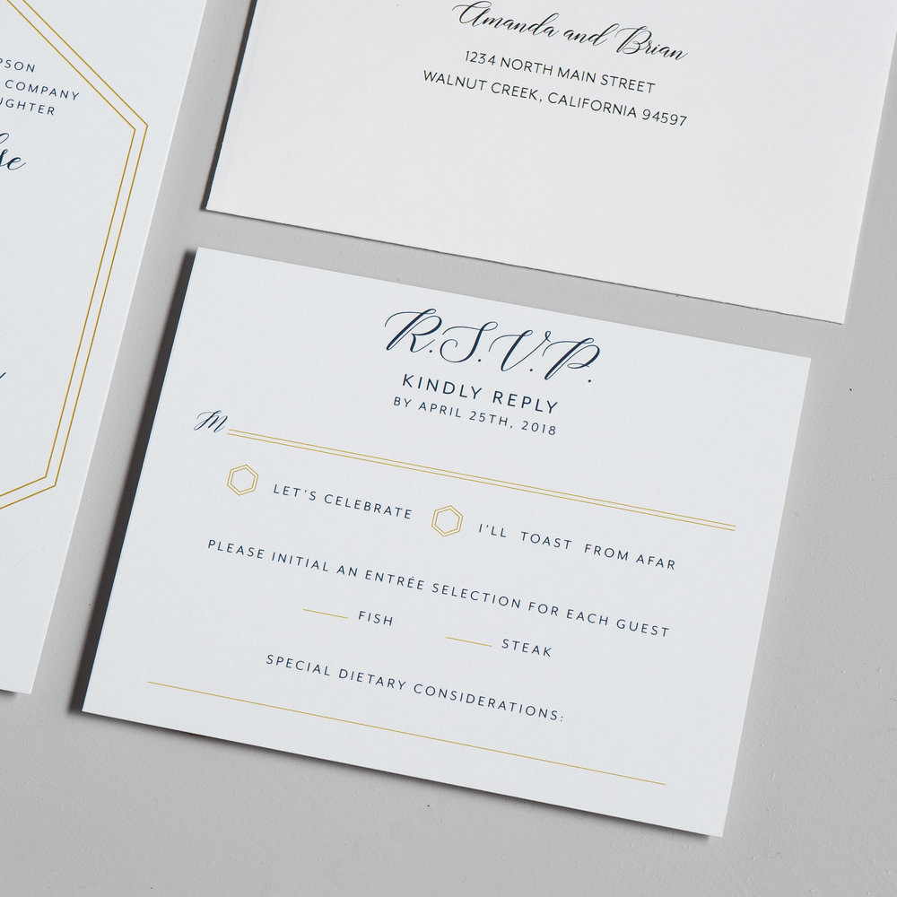 Navy, Gold, and Greenery Wedding Invitations by Just Jurf-4b.jpg