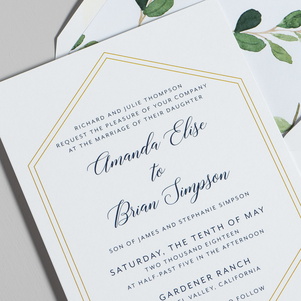 Navy, Gold, and Greenery Wedding Invitations by Just Jurf-8.jpg