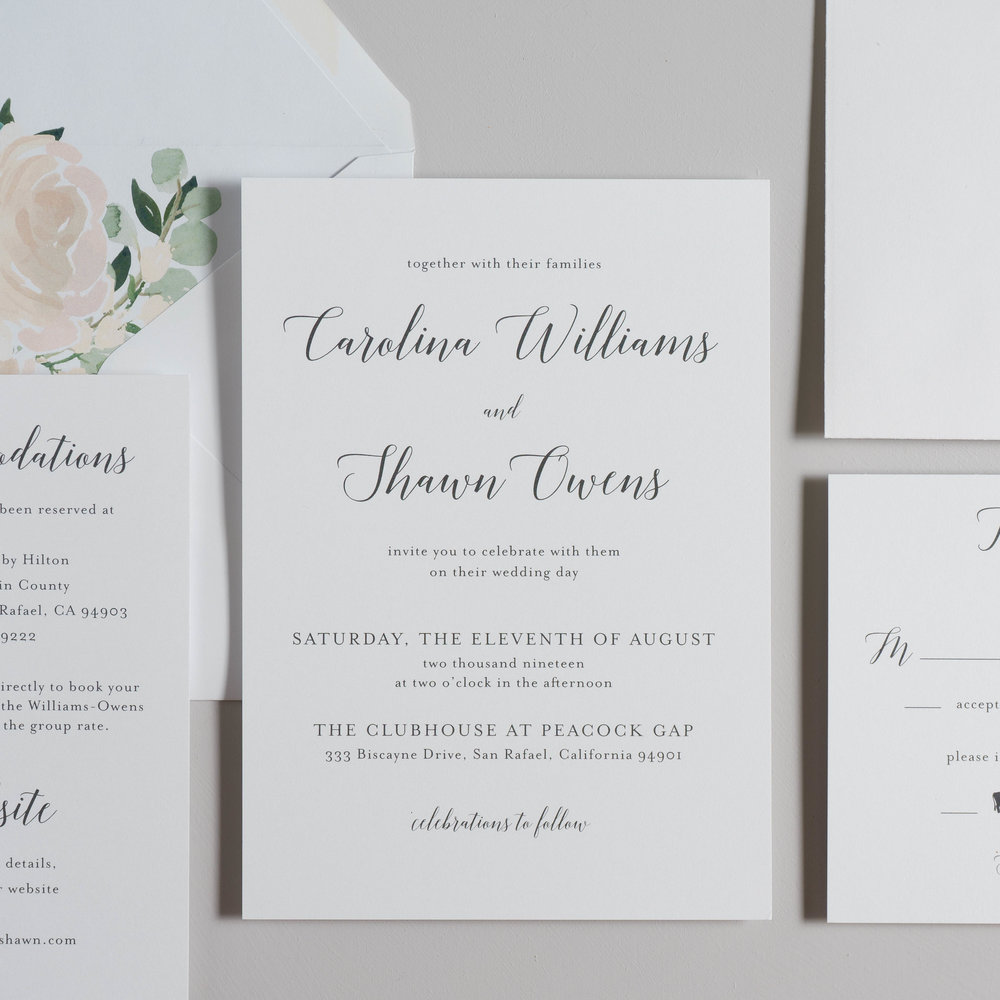 Blush Floral Calligraphy Wedding Invitations by Just Jurf-2.jpg