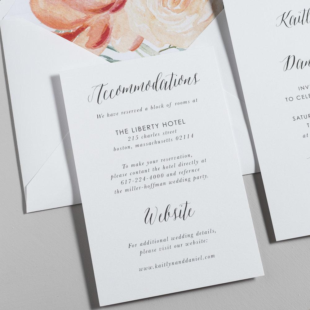 Modern Peach Watercolor Floral Wedding Invitations by Just Jurf-3.jpg