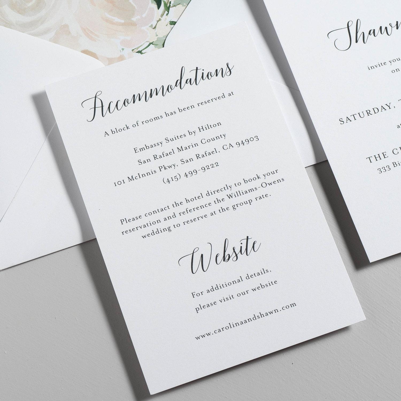 Blush Floral Calligraphy Wedding Invitation — Just Jurf Designs