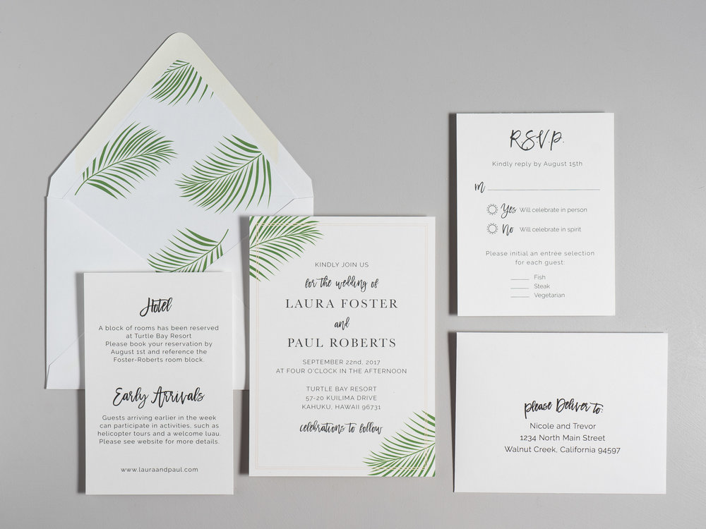 Soft Tropical Palm Leaf Wedding Invitations by Just Jurf-1a.jpg