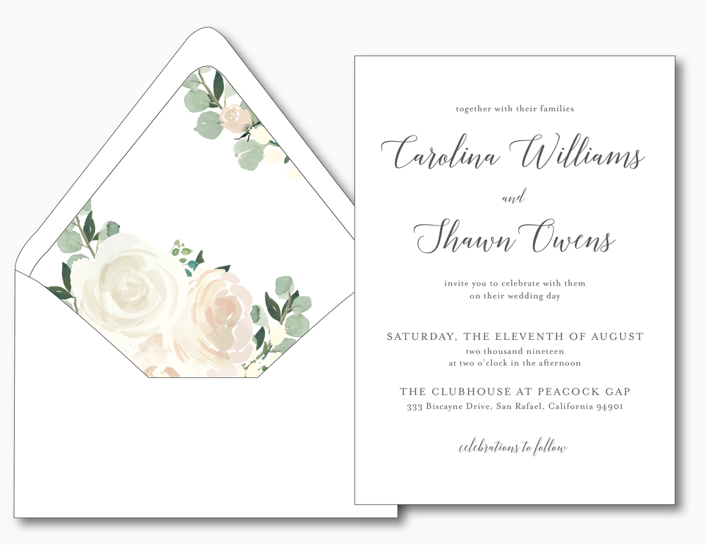 Blush Floral Calligraphy