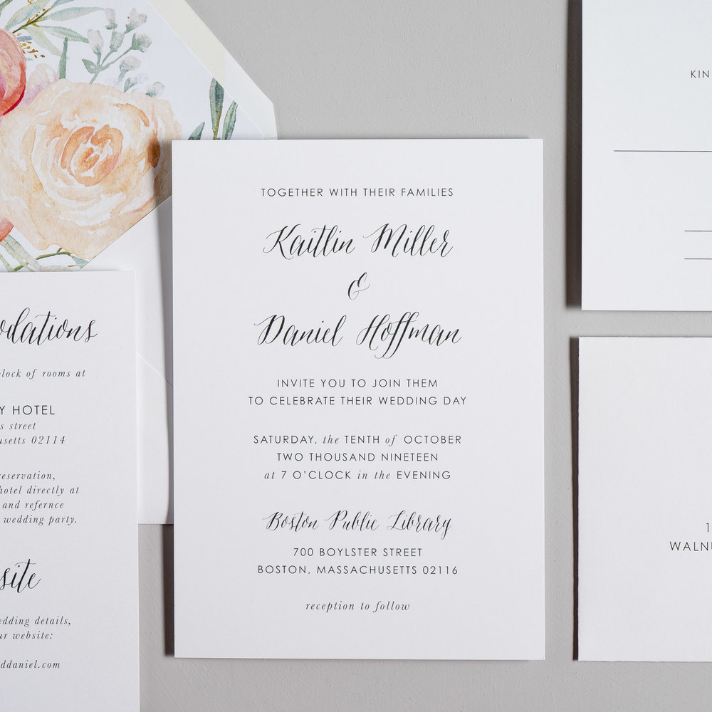 Modern Peach Watercolor Floral Wedding Invitations by Just Jurf-2.jpg