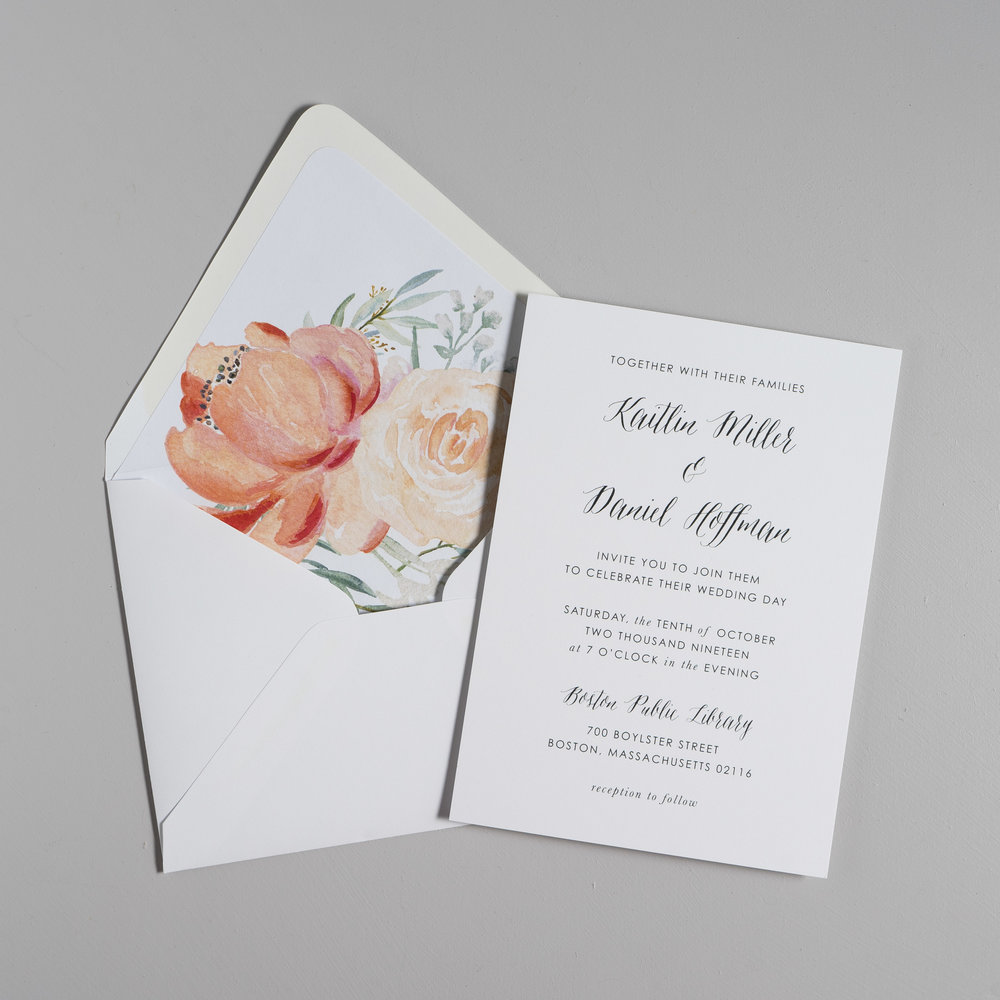 Modern Peach Watercolor Floral Wedding Invitations by Just Jurf-5.jpg