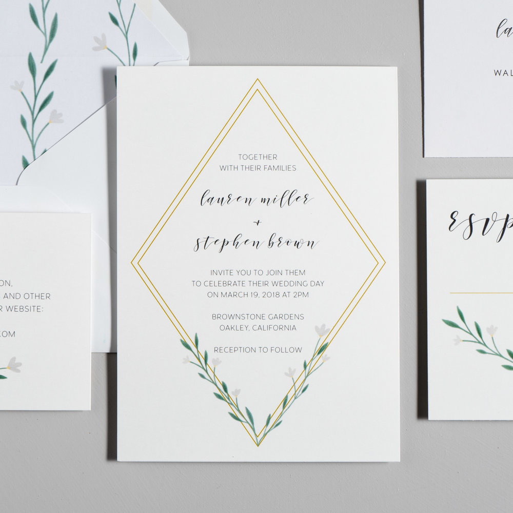 Simple Geometric Floral Wedding Invitations by Just Jurf-2a.jpg