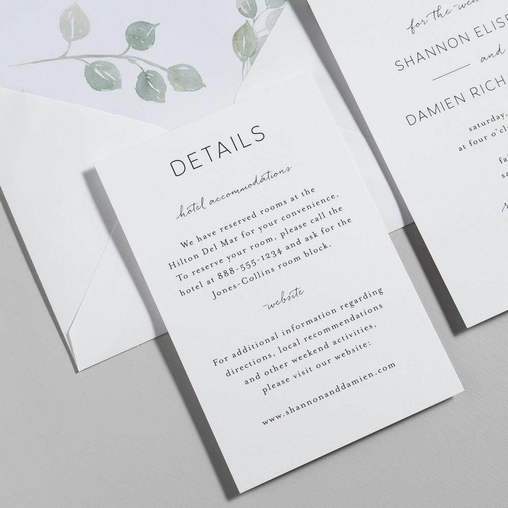 Eucalyptus Minimalist V2 Wedding Invitations by Just Jurf-3a.jpg