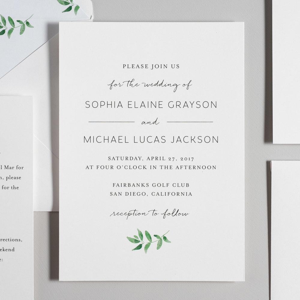 Greenery Minimalist Wedding Invitations by Just Jurf-2.jpg