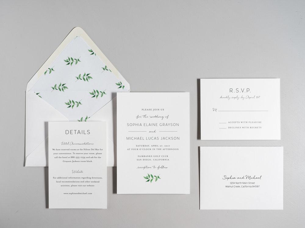 Greenery Minimalist Wedding Invitations by Just Jurf-1.jpg
