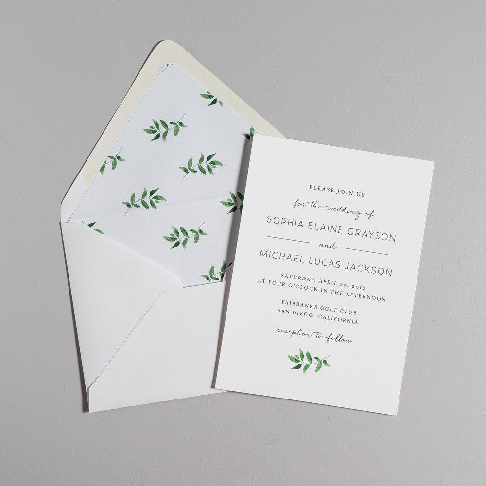 Greenery Minimalist Wedding Invitations by Just Jurf-5.jpg