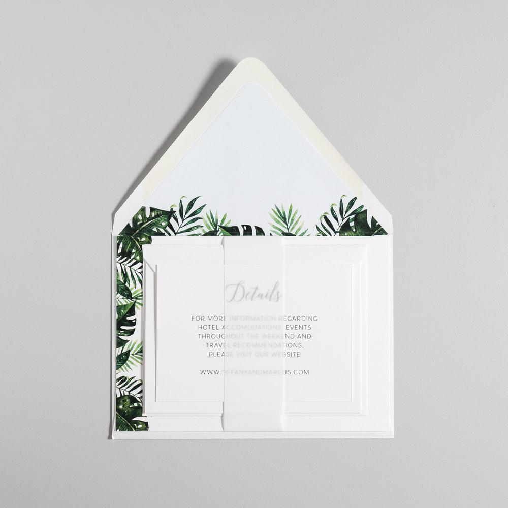 Tropical Greenery Palm Leaf Wedding Invitations by Just Jurf-10b.jpg