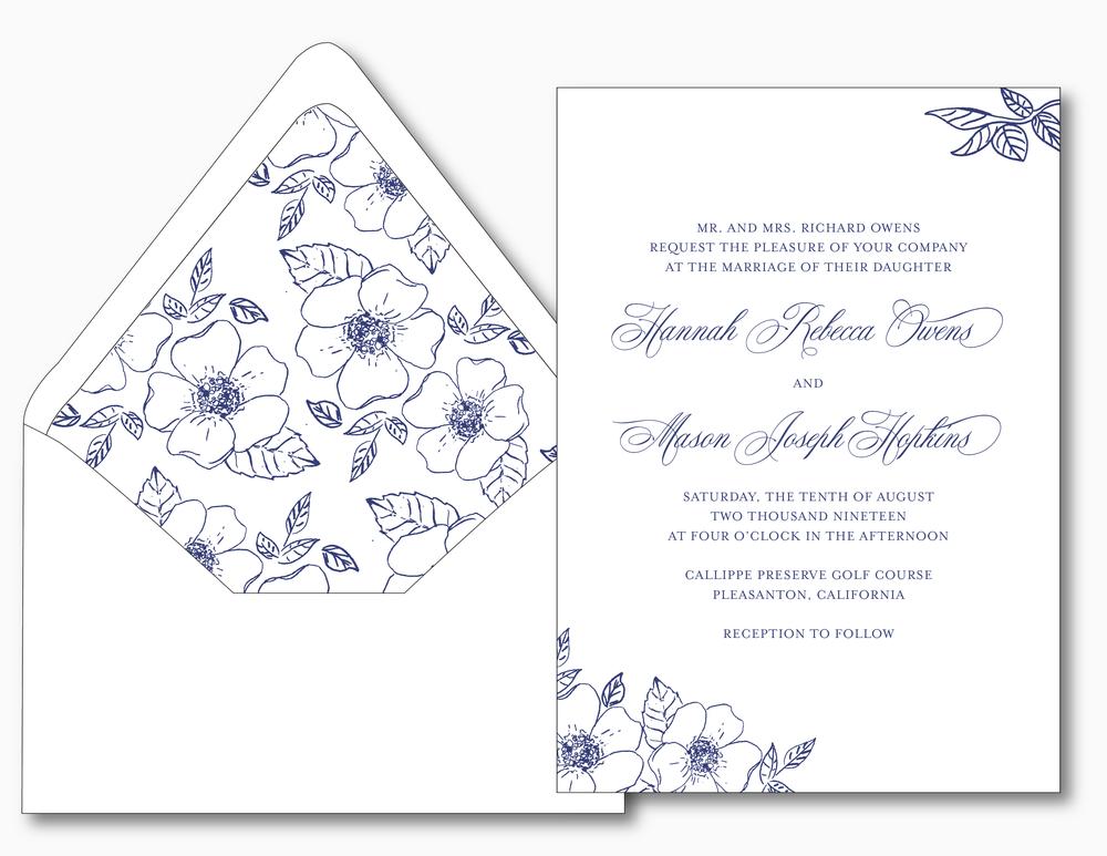 Elegant Anemone Wedding Invitation Suite by Just Jurf