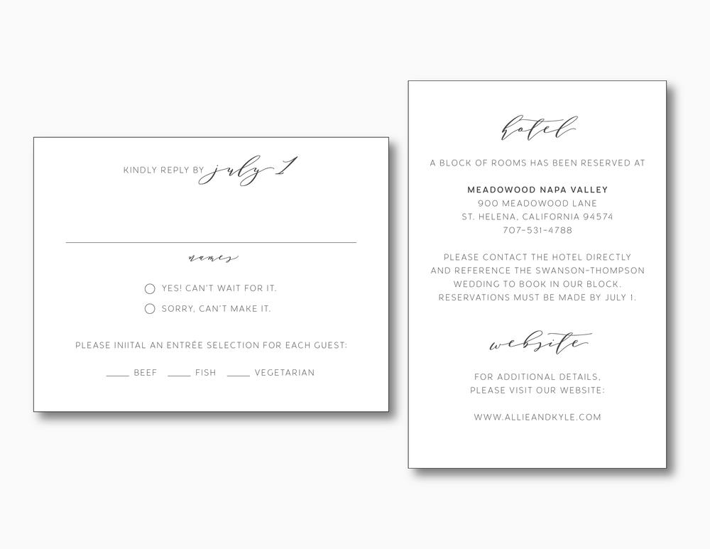 Modern Greenery V2 Wedding Invitation Suite by Just Jurf
