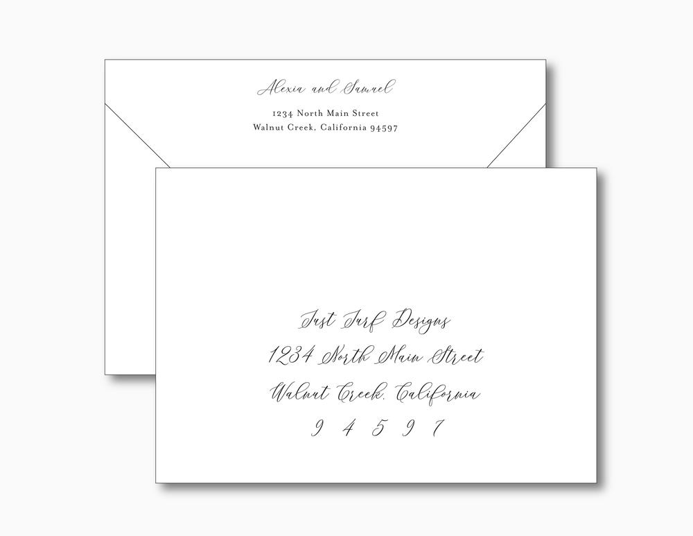 Elegant Palm Tree Wedding Invitation Suite by Just Jurf