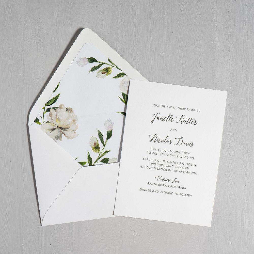 Simple Script V2 Letterpress Wedding Invitations by Just Jurf-5.jpg