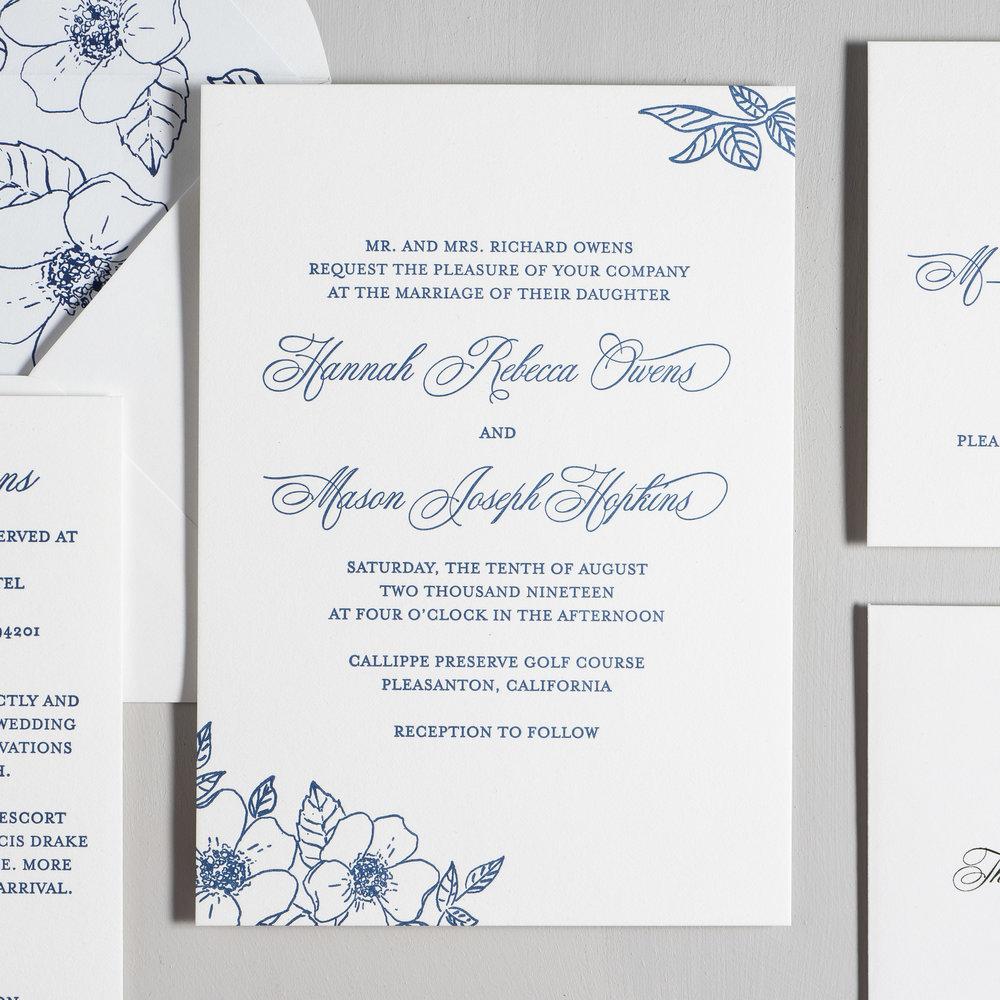 Elegant Anemone Letterpress