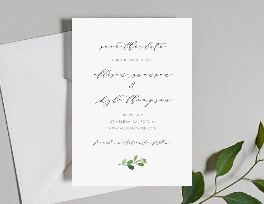 Modern Greenery V2 Save the Dates by Just Jurf-01.png
