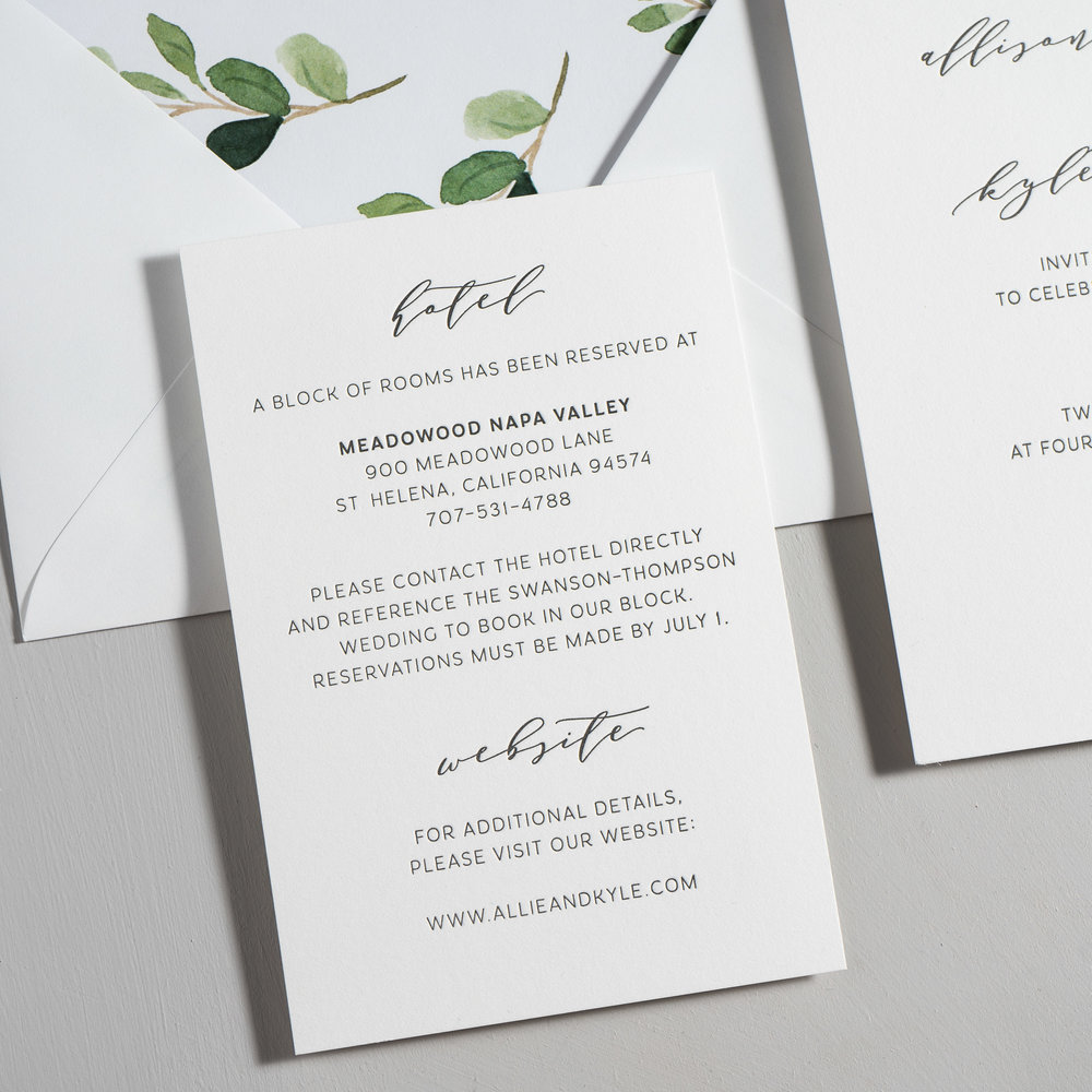 Modern Greenery V2 Letterpress Wedding Invitations by Just Jurf-3.jpg
