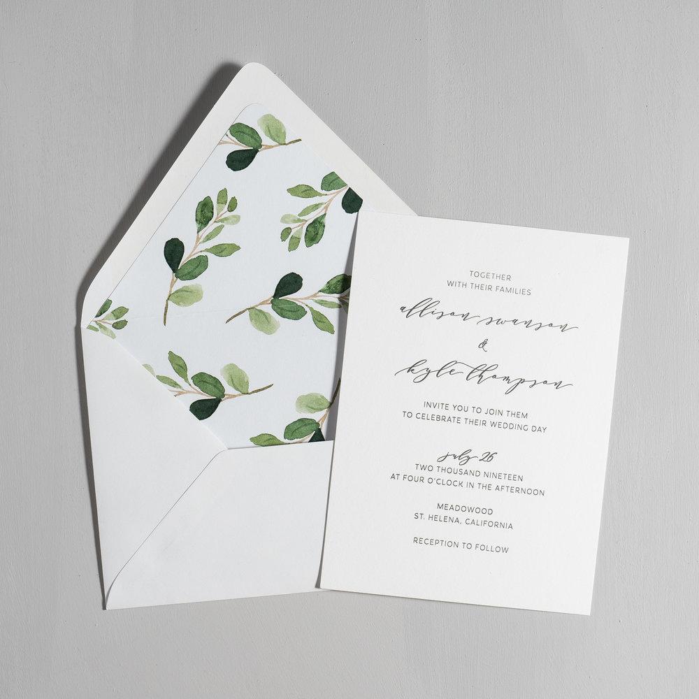 Modern Greenery V2 Letterpress Wedding Invitations by Just Jurf-5.jpg