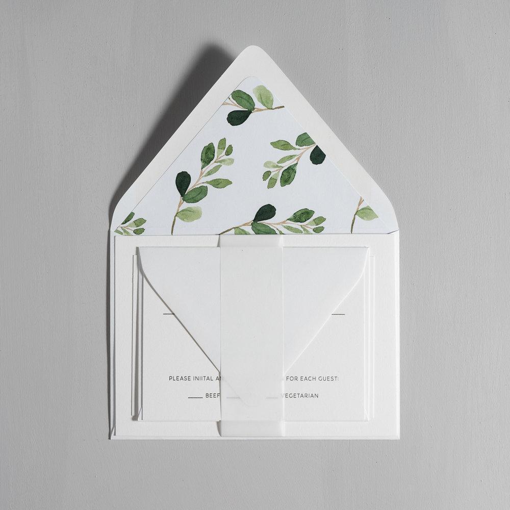 Modern Greenery V2 Letterpress Wedding Invitations by Just Jurf-10.jpg