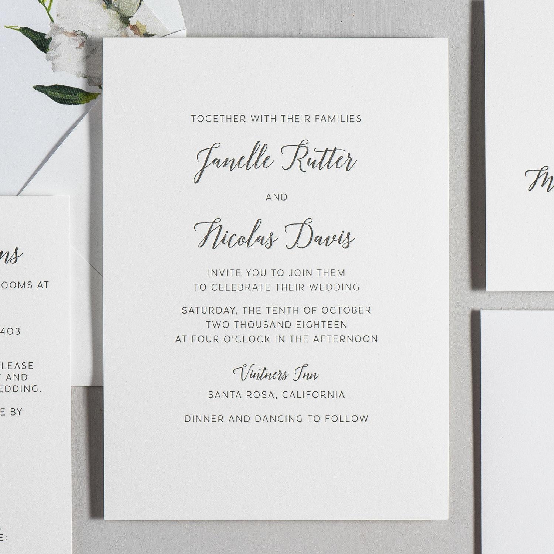 Letterpress Wedding Invitations — Just Jurf Designs