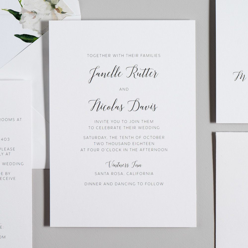 Simple Script V2 Wedding Invitation suite by Just Jurf
