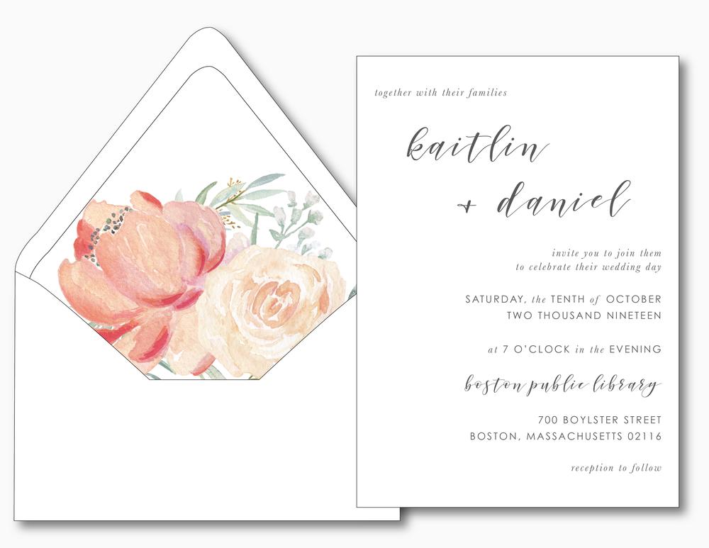Simple Modern Script V2 Wedding Invitation by Just Jurf