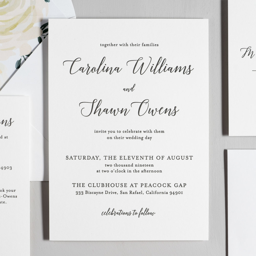 Elegant Calligraphy Letterpress Wedding Invitations by Just Jurf-2.jpg