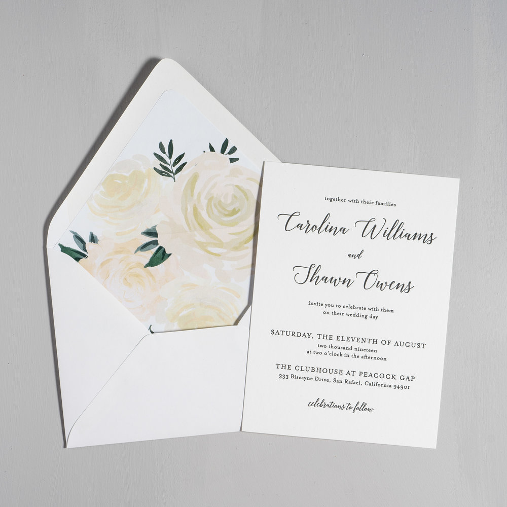 Elegant Calligraphy Letterpress Wedding Invitations by Just Jurf-5.jpg