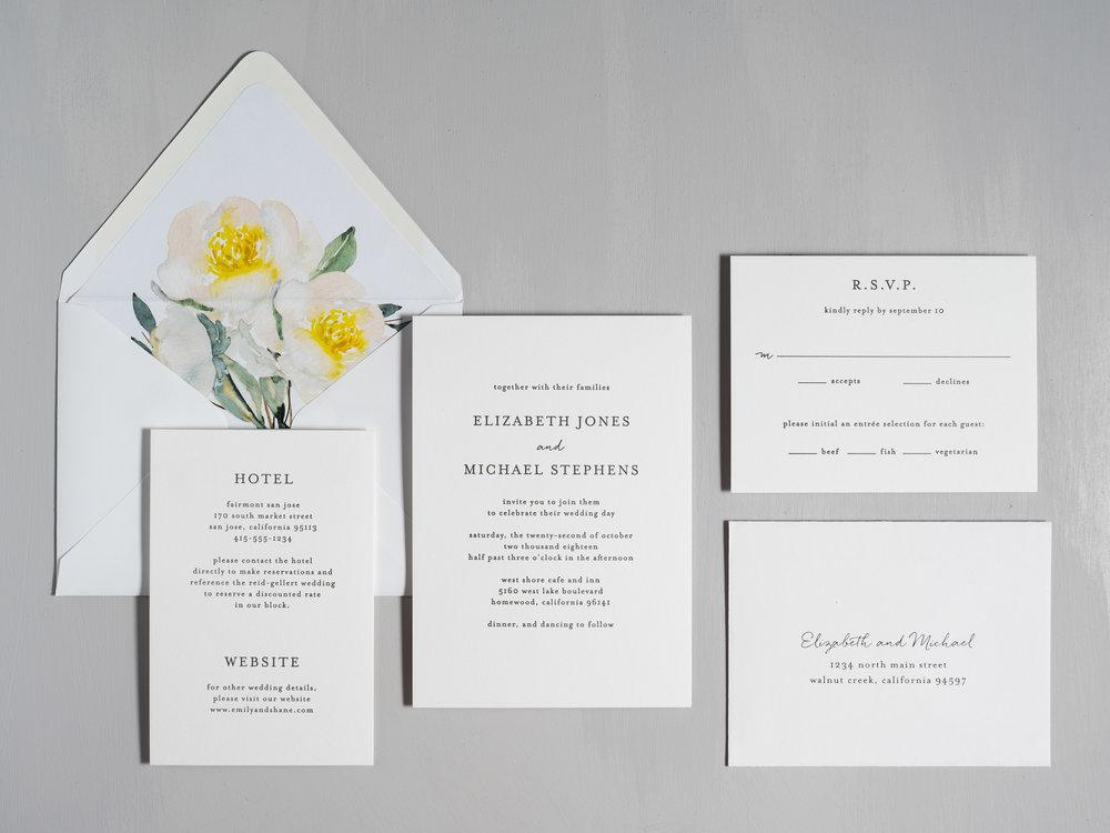 Botanical Minimalist V2 Letterpress Wedding Invitations by Just Jurf-1.jpg