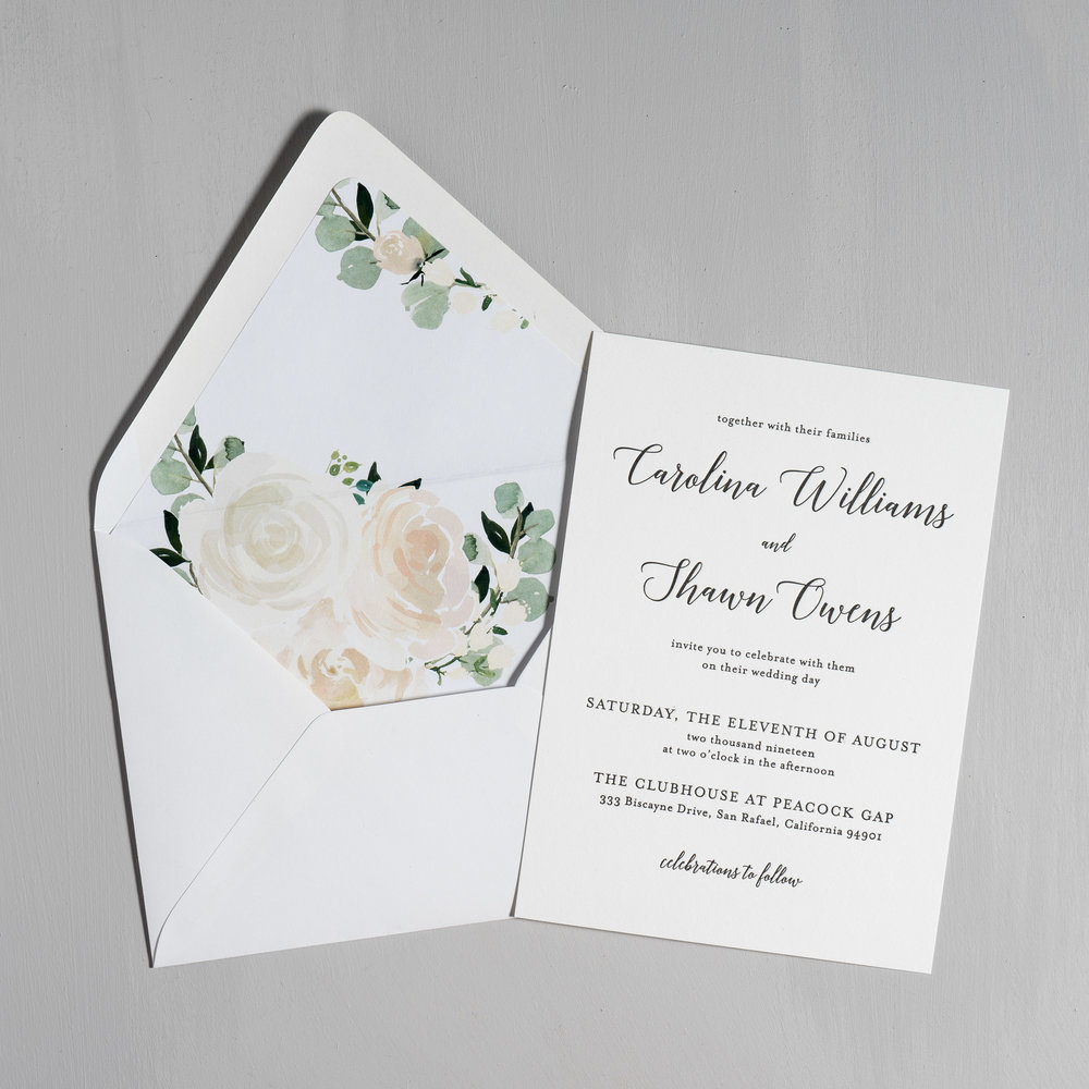 Blush Floral Calligraphy Letterpress Wedding Invitations by Just Jurf-5.jpg