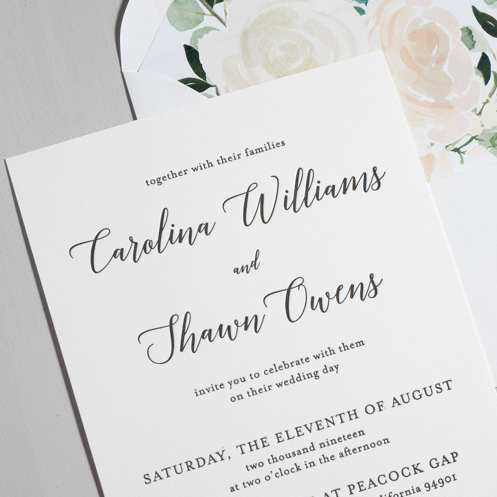 Blush Floral Calligraphy Letterpress Wedding Invitations by Just Jurf-8a.jpg