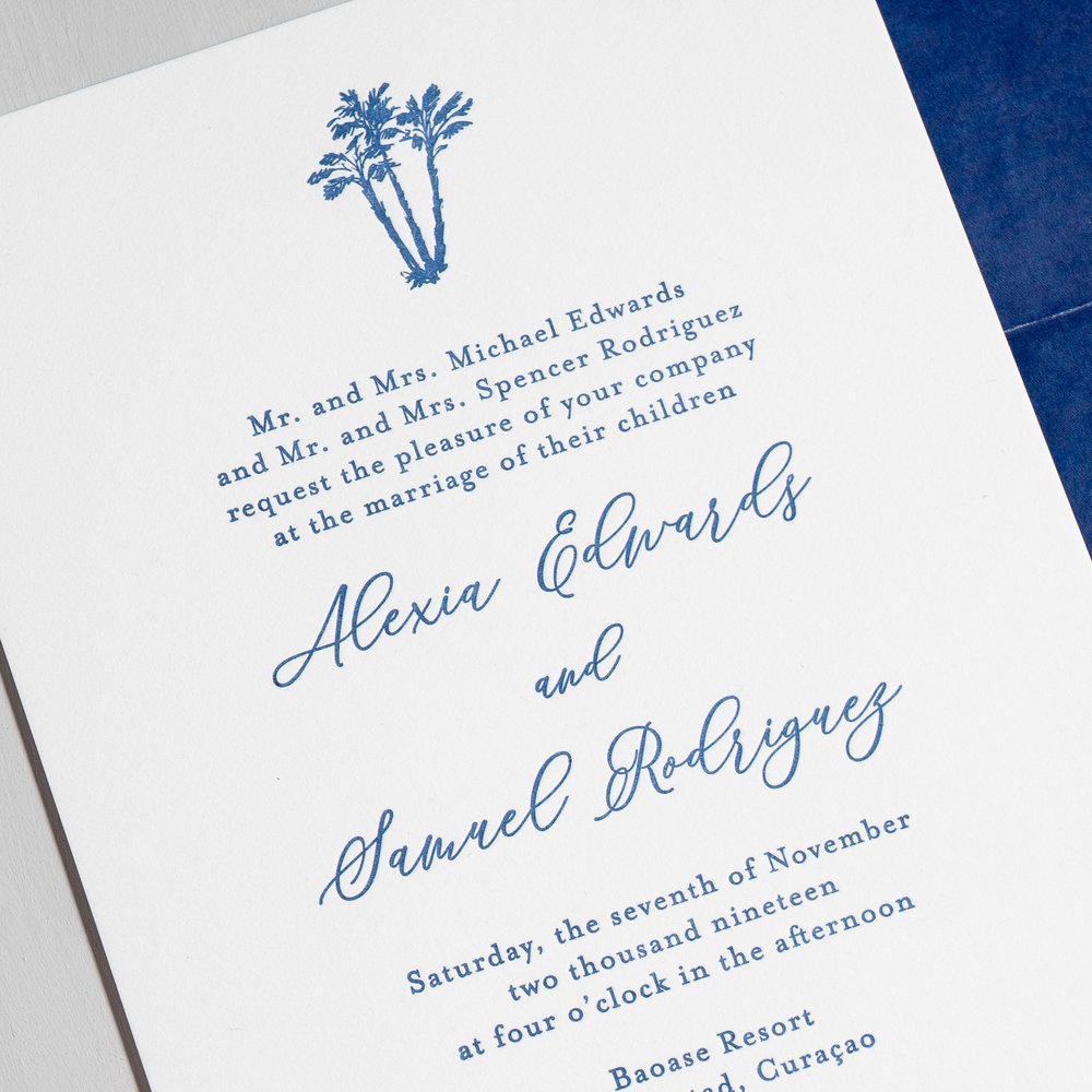 *Elegant Palm Tree Letterpress Wedding Invitations by Just Jurf-8c.jpg