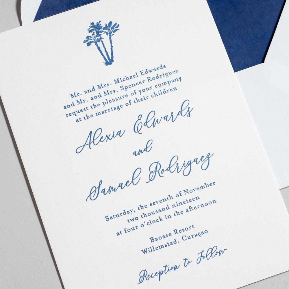 *Elegant Palm Tree Letterpress Wedding Invitations by Just Jurf-8b.jpg