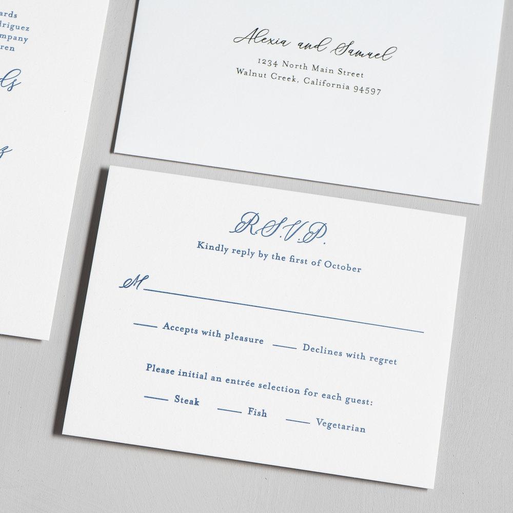 Elegant Palm Tree Letterpress Wedding Invitation by Just Jurf