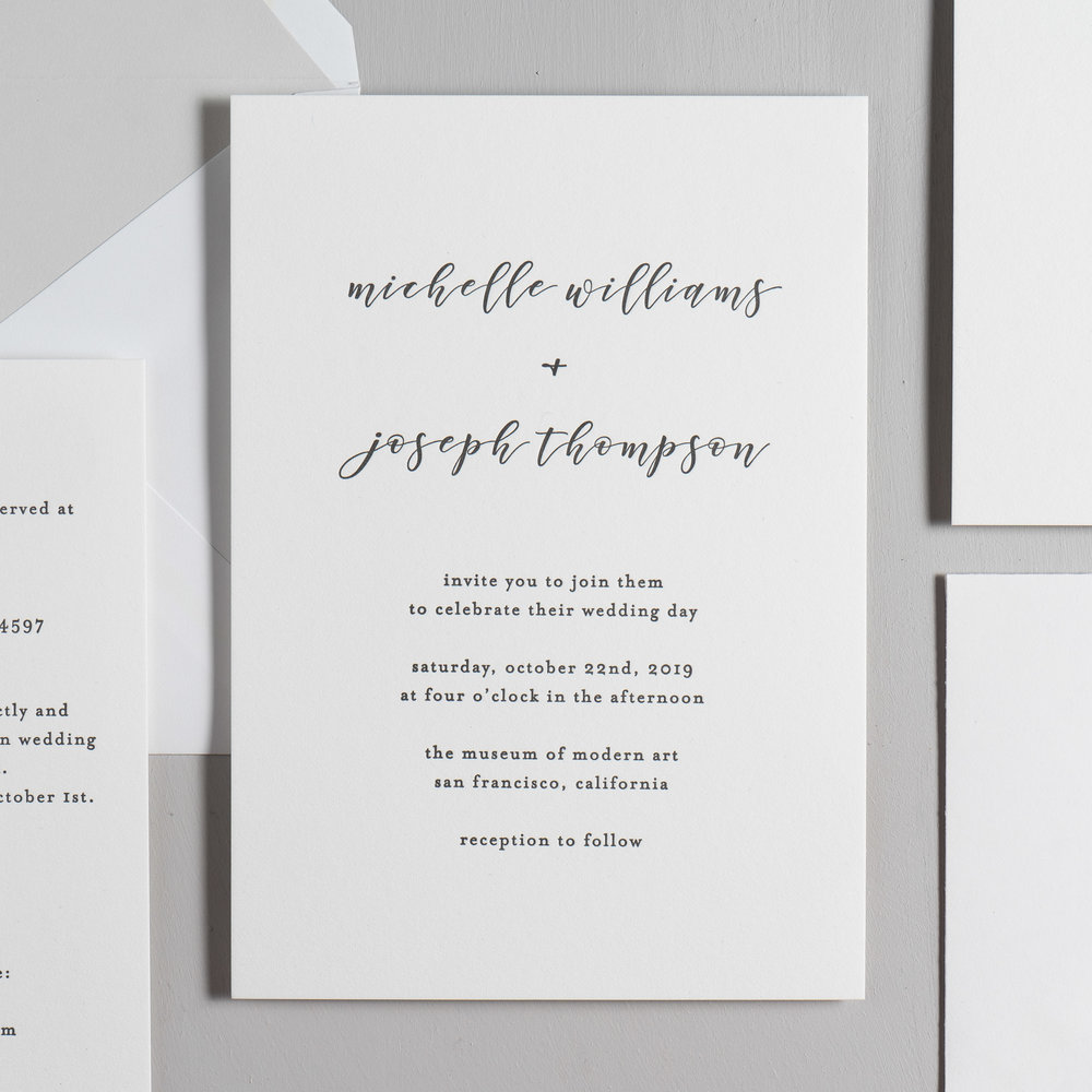 Delicate Minimalist Letterpress Wedding Invitations by Just Jurf-2.jpg